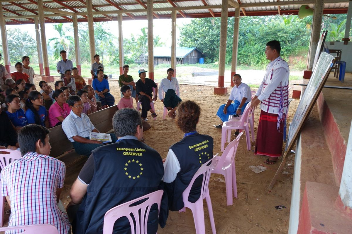 Myanmar observing voter education in Kayin village
