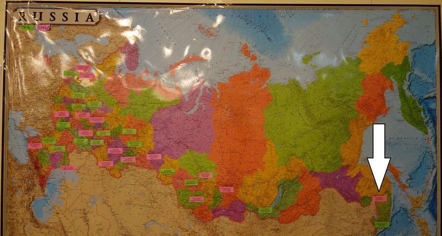 Fédération de Russie avec Khabarovsk mis en exergue