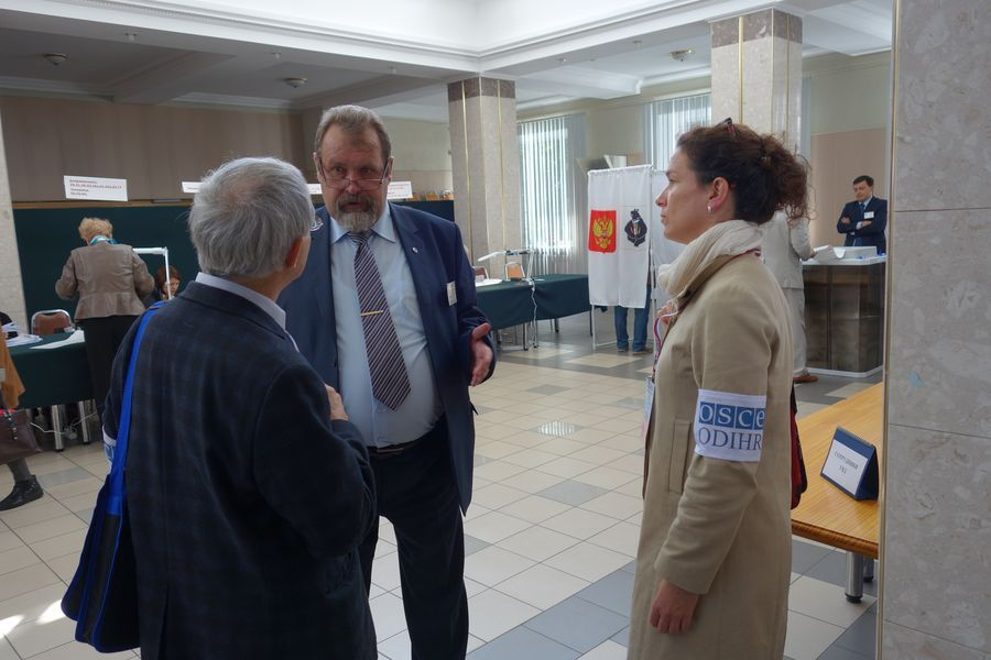 Election day in a polling station in Khabarovsk